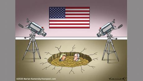 BG US-Wahl TV-Duell grau