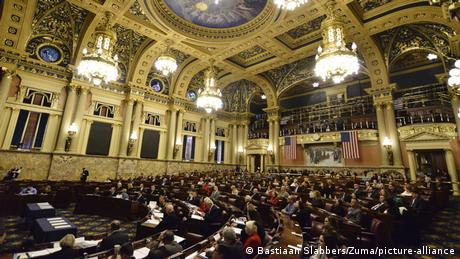 Electoral College electors seated at the Pennsylvania State House, Harrisburg, PA (Bastiaan Slabbers/Zuma/picture-alliance)