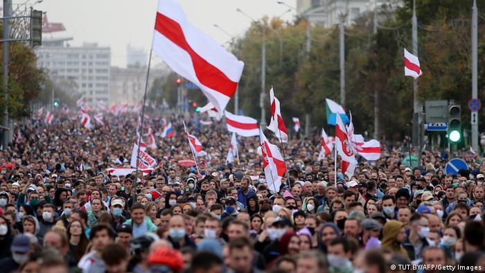 Протест в Минске. Фото из архива, сентябрь 2020 года