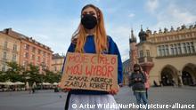 Polen   Protest gegen Abtreibungsverbot (Artur Widak/NurPhoto/picture-alliance)