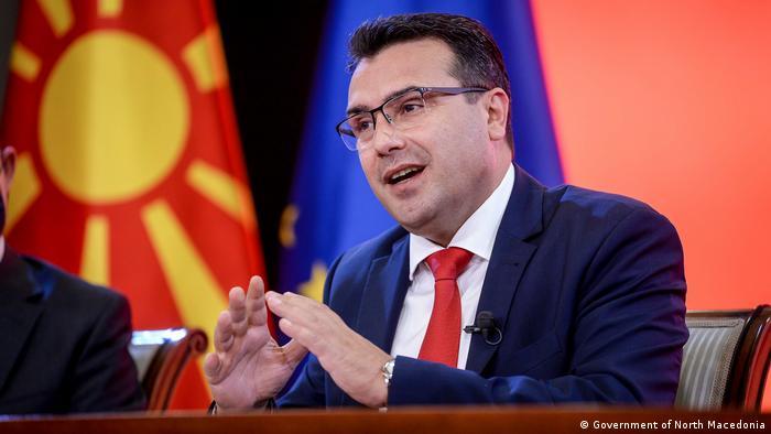 Nord-Mazedonien Der Ministerpräsident der Regierung in Nord-Mazedonien, Zoran Zaev