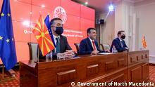 Nord-Mazedonien Pressekonferenz in Skopje