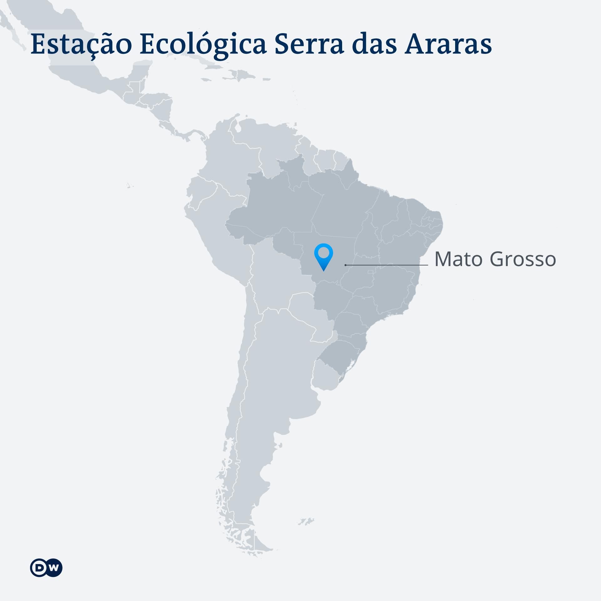 Karte Serra das Araras PT