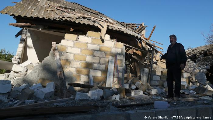 A home destroyed by a shelling attack