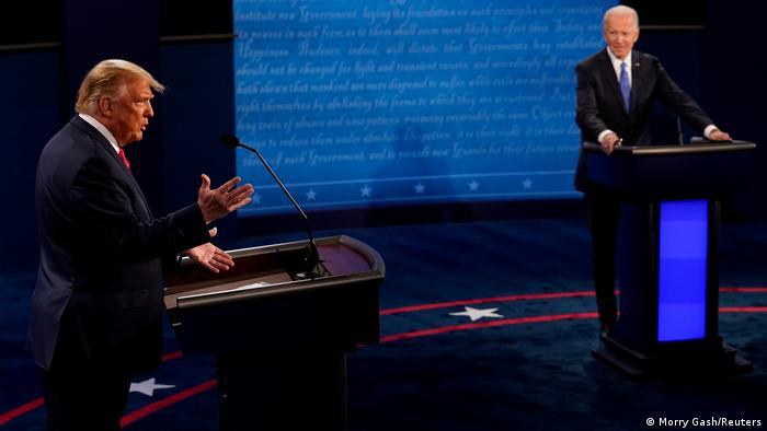 Dezbatere televizată între cei doi candidați: Donald Trump și Joe Biden
