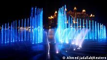 VAE Weltrekordversuch für den größten Springbrunnen in Dubai