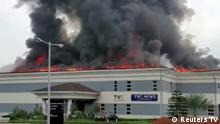 Nigeria l Proteste in Lagos, Fernsehsender in Flammen