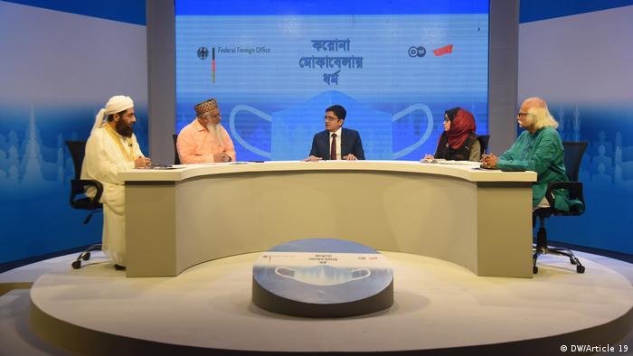Gelar wicara di stasiun televisi Channel I, Bangladesh, yang digelar DW untuk membahas peran agama dalam pandemi corona, Jumat 23/10.