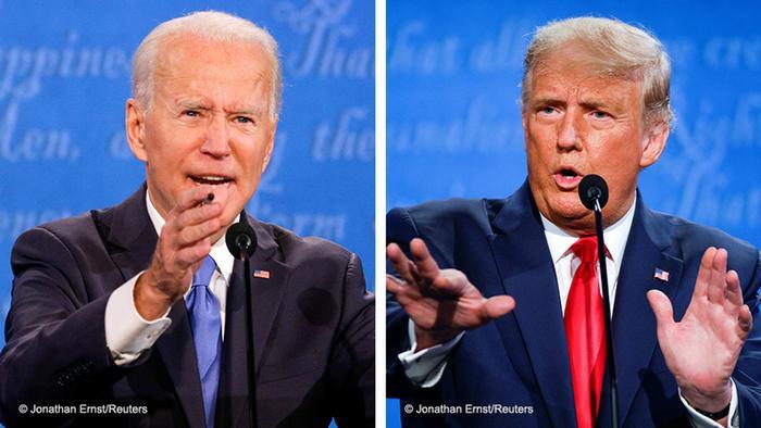 Джозеф Байден, кандидат на пост президента США от демократов и Дональд Трамп, действующий президент США