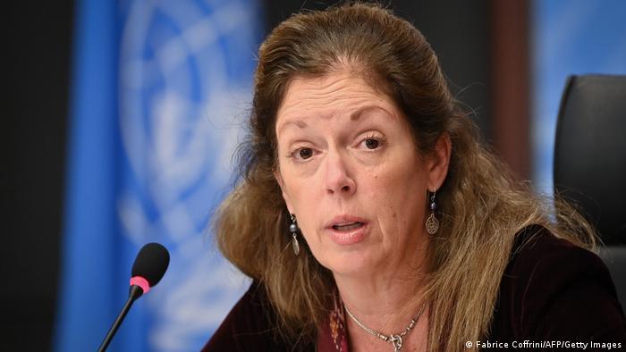 Schweiz Genf   Gespräche zu Waffenstillstand in Libyen - Stephanie Williams