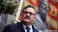 May 28, 2017 - Athens, Greece - Golden Dawn lawmaker Christos Pappas attends a party rally in central Athens on Monday May 29, 2017 to commemorate the anniversary of the fall of Constantinople by the Ottoman army in 1453 AD Athens Greece PUBLICATIONxINxGERxSUIxAUTxONLY - ZUMAn230 20170528_zaa_n230_874 Copyright: xPanayotisxTzamarosx May 28 2017 Athens Greece Golden Dawn lawmaker Christos Pappas Attends a Party Rally in Central Athens ON Monday May 29 2017 to commemorate The Anniversary of The Case of Constantinople by The OTTOMAN Army in 1453 Retired Athens Greece PUBLICATIONxINxGERxSUIxAUTxONLY 20170528_zaa_n230_874 Copyright xPanayotisxTzamarosx