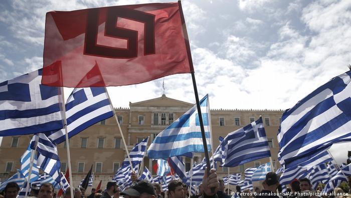 Griechenland Athen | Demonstration von Unterstützern der Golden Dawn Partei