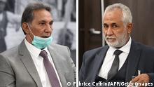 Kombobild | Schweiz Genf | Gespräche zu Waffenstillstand in Libyen - A. Amhimmid Mohamed Alamami und Ahmed Ali Abushahma