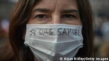 Frankreich Marsch in Paris zum Gedenken an Samuel Paty