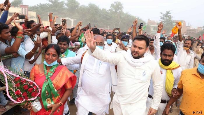 Wahlveranstaltungen in Bihar, Indien 2020