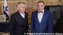 Polen Der Filmemacher Polanski zu Besuch bei Stanislaw Buchala