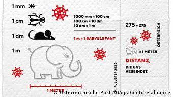 Марка почты Австрии, посвященная коронавирусу