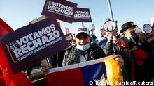Chile Kundgebung vor dem bevorstehenden Referendum