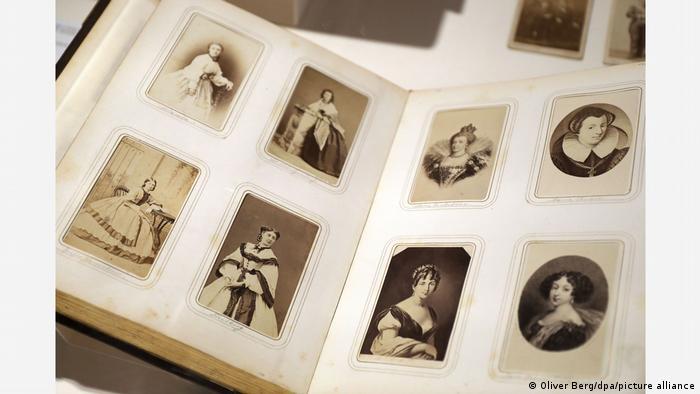 Photos of women in a photo album