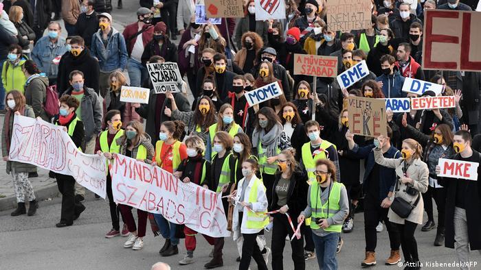Протестное шествие в Будапеште