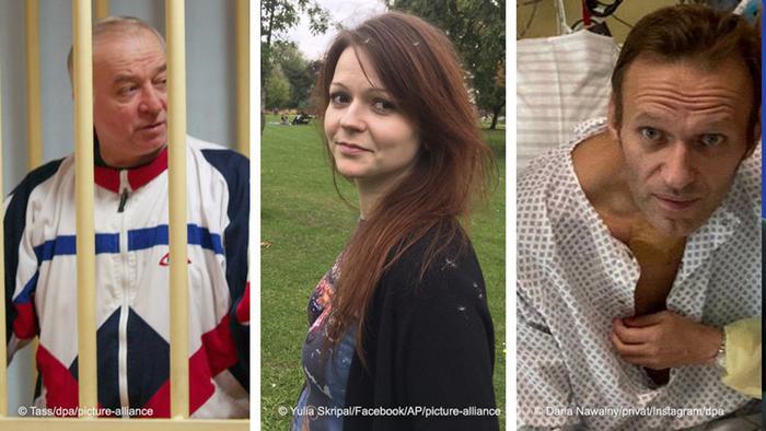 Sergei Skripal, Yulia Skripal and Alexej Nawalny