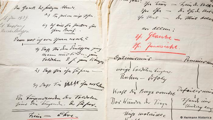 Manuscripts of one of Hitler's speeches