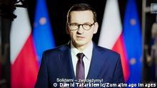 News Bilder des Tages October 23, 2020, Poznan, Wielkopolska, Poland: From tomorrow, more restrictions will be introduced to fight against COVID-19 in Poland. In the picture: the Prime Minister of Poland, Mateusz Morawiecki, during the evening speech on Polsat television related to the new restrictions. Poznan Poland - ZUMAt233 20201023_zap_t233_006 Copyright: xDawidxTatarkiewiczx