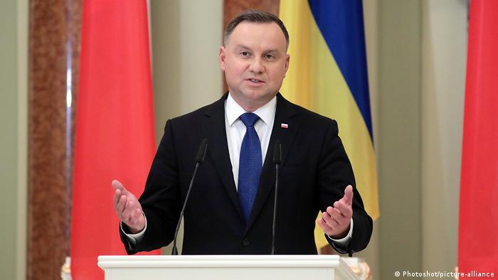 Ukraine Kiew | Andrzej Duda PK (Photoshot/picture-alliance)