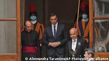 Vatikanstadt | Spaniens Premierminister Pedro Sanchez nach Treffen mit Papst Franziskus