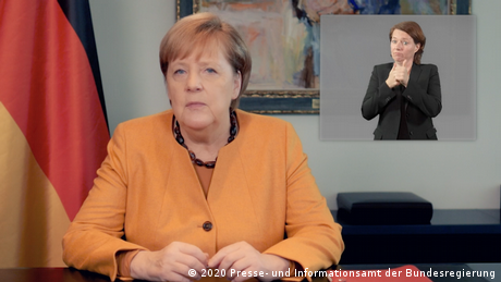 Video-Podcast zur Coronakrise von Angela Merkel