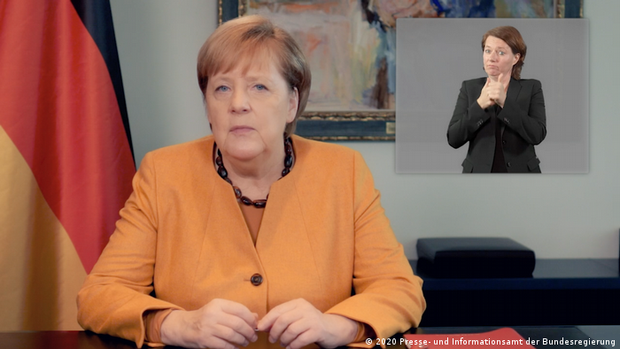 Video-Podcast zur Coronakrise von Angela Merkel