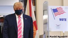 US-Präsidentenwahl | Stimmabgabe von Donald Trump (Mandel Ngan/AFP)