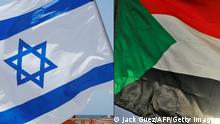 The flags of Israel and Sudan (Jack Guez/AFP/Getty Images)