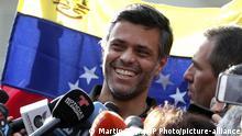 Venezuela Oppositionsführer Leopoldo Lopez