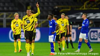 Manuel Akanji made a winning return to Dortmund's team