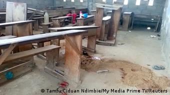 La salle de classe où le drame est survenu, le 24 octobre 2020 à Kumba