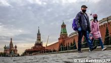 Moskau | Coronakrise Roter Platz