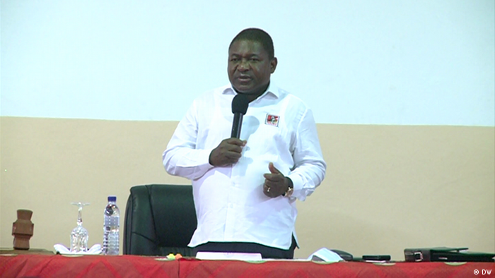 Mosambik Pemba | Felipe Nyusi (Delfim Anacleto/DW)