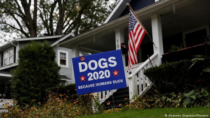 USA Präsidentschaftswahlen Unterstützer des Wahlkampfs