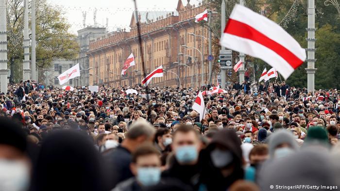 Акция протеста в Минске, 25 октября