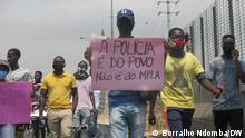 Angola Luanda | Demonstration | Gegen Polizeigewalt