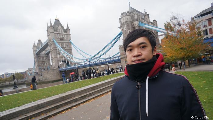 London Aktivist Alan Li Tung-sing aus Hongkong