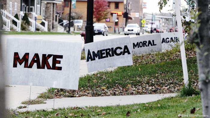 USA Wisconsin | Wahlkampf | Joe Biden Anhänger (Bing Guan/Reuters)