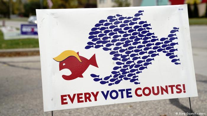 USA Wisconsin | Wahlkampf | Joe Biden Anhänger