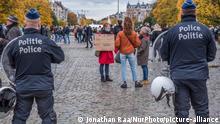 Belgien Protest gegen Coronavirus-Maßnahmen (Jonathan Raa/NurPhoto/picture-alliance)