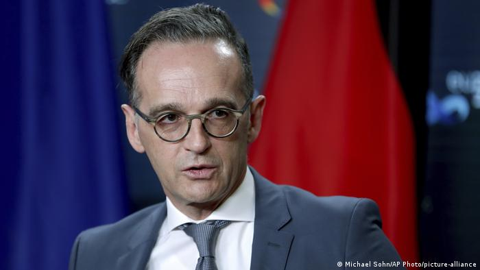German foreign minister Heiko Maas at a press conference