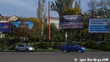Wahlwerbung auf den Straßen von Kryvyj-Rig, der Heimatstadt des ukrainischen Präsidenten Wolodymyr Selensky