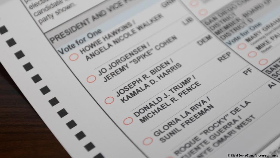 Stimmzettel Usa