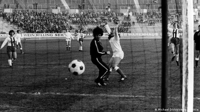 The first ever match at Stuttgart's home ground in 1970