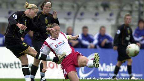 Frauenfußball   UEFA Cup-Finale Frauen   1. FFC Frankfurt - Umea IK (Frank May/dpaweb/dpa/picture-alliance)